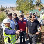 Autoridades inspeccionaron construcción de nueva pasarela Miraflores de Longaví
